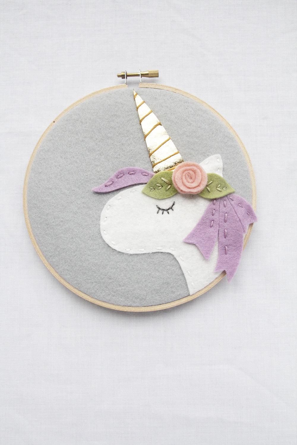 Unicorn with Lavendar Mane, Kids Wall Art