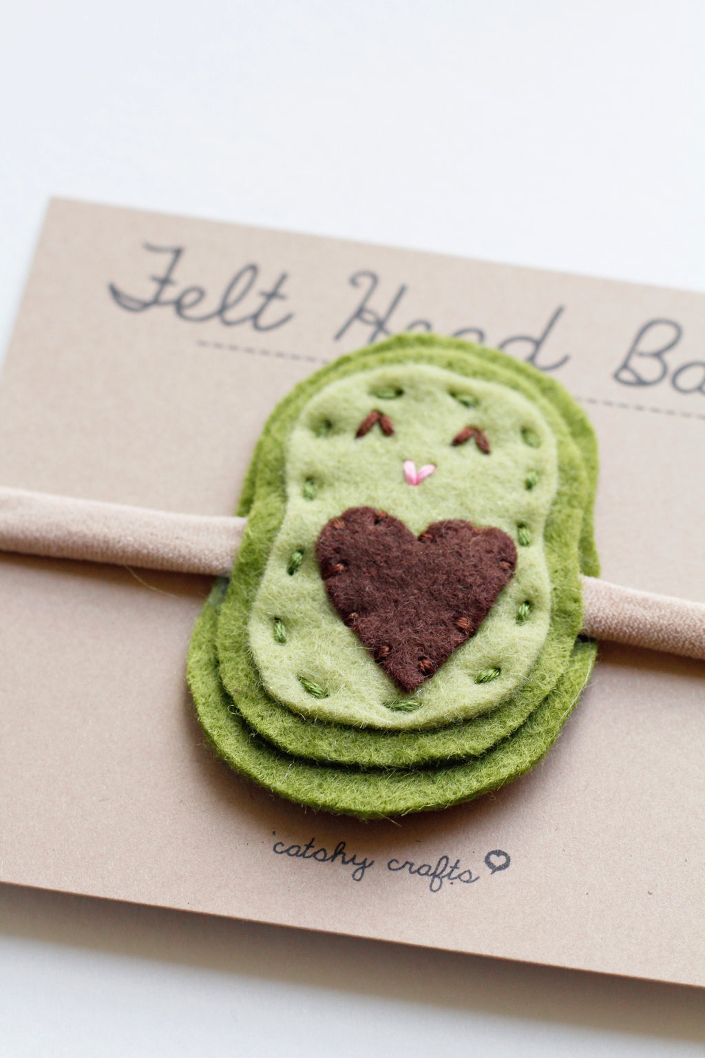 Felt Avocado Headband