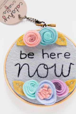 Be Here Now Floral Hoop / DCS Collection