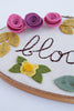 Bloom Embroidery Hoop Art with Felt Flowers