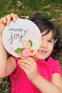 Choose Joy Embroidery Hoop Art