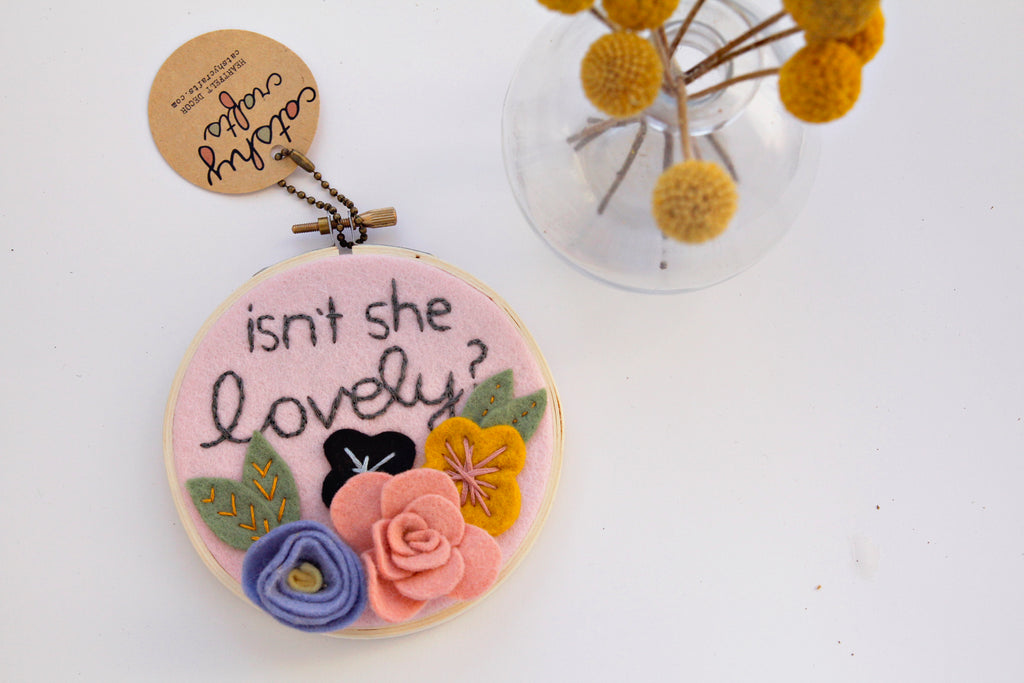 Isn't She Lovely Embroidery Hoop Art