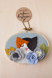 Custom Felt Pet Portrait 3 x 5 Hoop Art