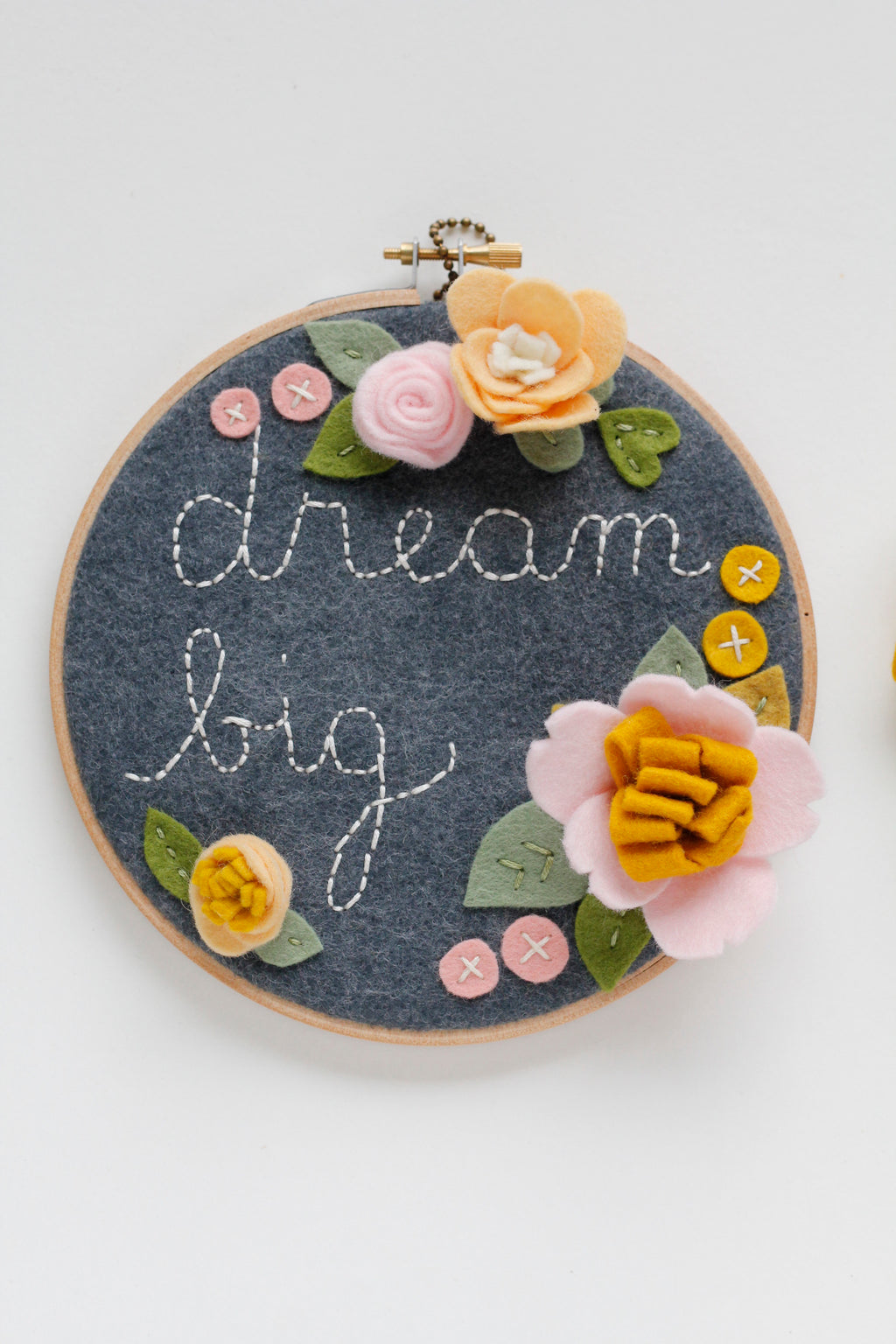 Dream Big Embroidery Hoop Art