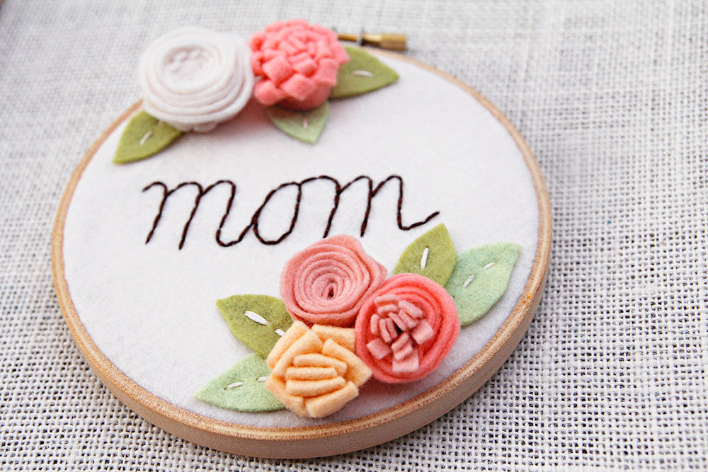Personalized Mom Embroidery Hoop Art