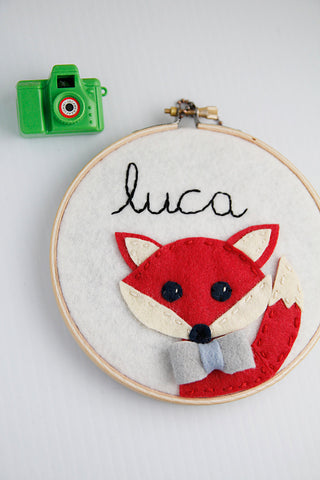 Personalized Nursery Decor - Fox - Nursery Decor - Red