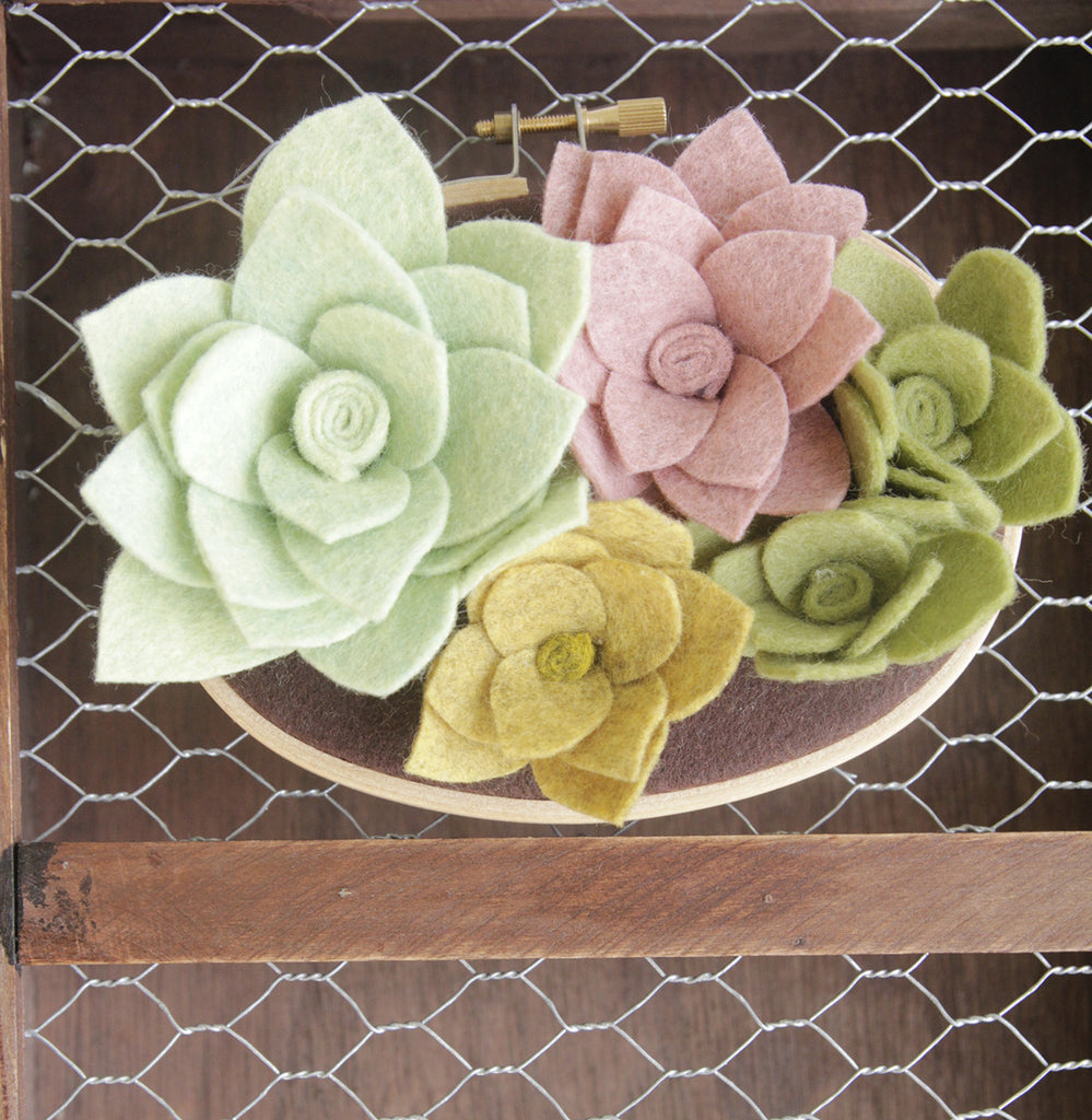 NEW! Felt Succulent Garden Wall Art - 3 x 5 inches – Catshy Crafts