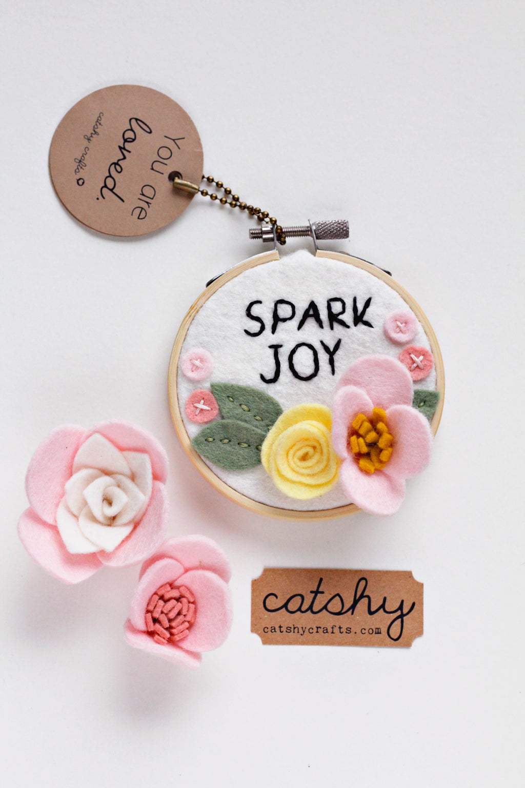 Spark Joy Mini Embroidery Hoop Art