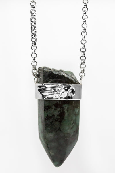 Emerald Point Pendant Necklace
