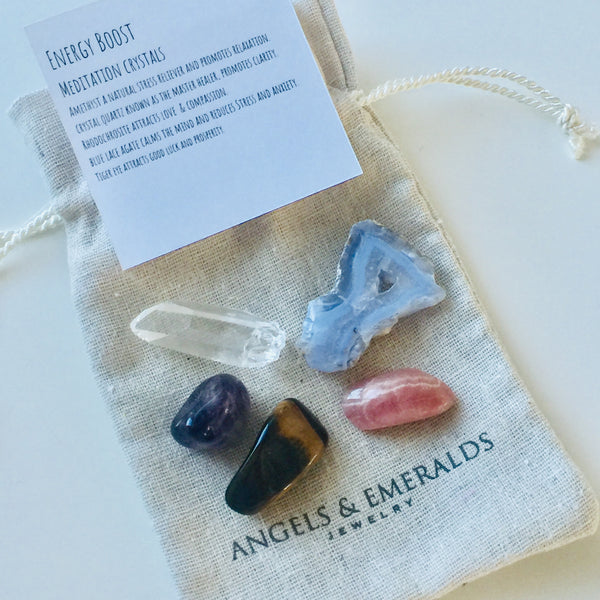 Energy Boost Meditation Crystal Set