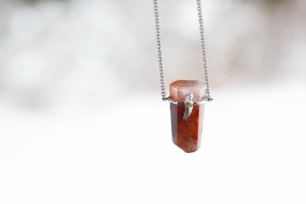 Angel Phantom Quartz Pendant Necklace