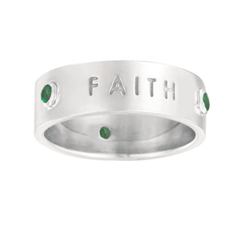 Faith, Trust, Love Ring