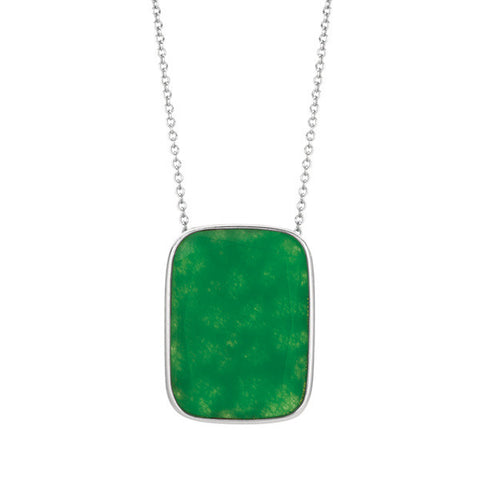 Green Onyx Pendant Necklace
