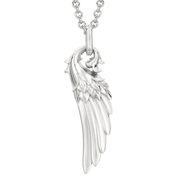 Guardian Angel Wing Pendant Necklace