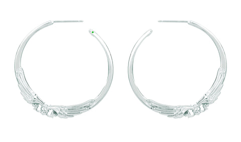 Angel Wing Hoop Earrings