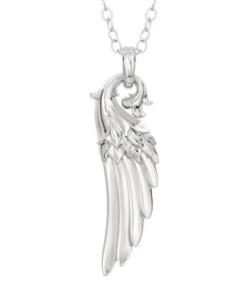 Guardian Angel Wing Amulet Necklace