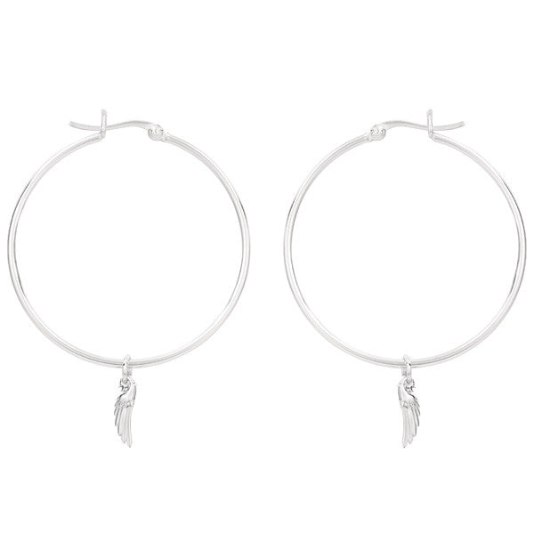 Angel Wing Hoop Earring
