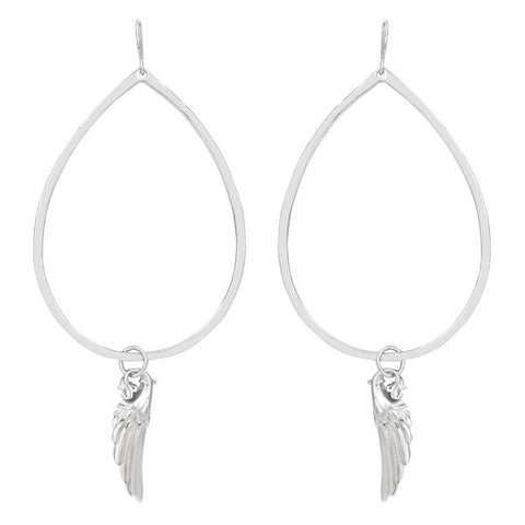 Angel Wing Gypsy Hoop Earring