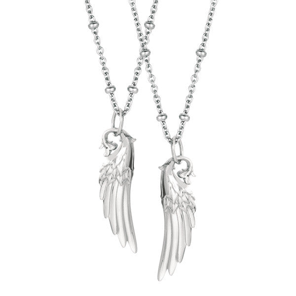 You+Me Angel Wing Necklace Set