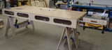 work bench with optional portable table saw and router lift