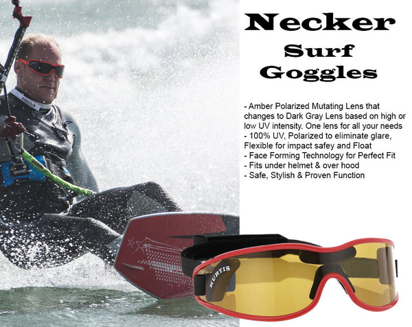 Necker Surfing Sunglasses with Polarized Mutating Lenses
