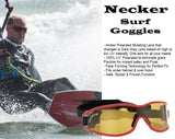 Necker Surf Goggles with Polarized Mutating Lenses