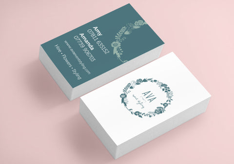 350gsm Recycled Business Cards - 85mm x 55mm