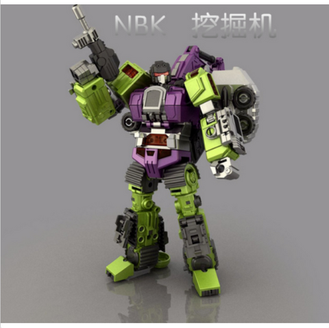 NBK-02 TF Engineering KO Generation Toys Gravity Builder Excavator