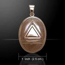 Legacy System Symbol Copper Pendant