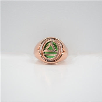 Legacy Copper Flip Ring (Emerald Glass Stone)