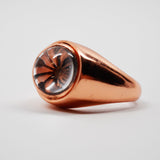 Legacy Open Tetra Flip Ring Copper (White Quartz Stone)