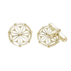 GIN 14K Gold Tetragram Cufflinks