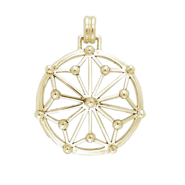 GIN 14K Gold Plated Classic Tetra Pendant
