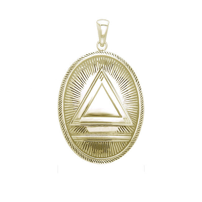 GIN 14K Gold Plated Classic System Pendant (1 Inch)