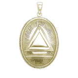 GIN 14K Gold Plated Classic System Pendant (1.25 Inch)