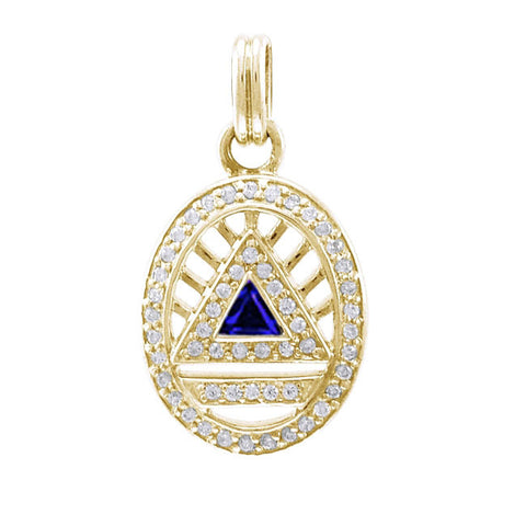 GIN 14K Gold Plated System Pendant (Cubic Zirconia)