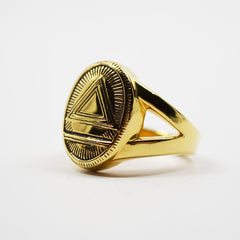 GIN 14K Gold Plated Classic System  Ring