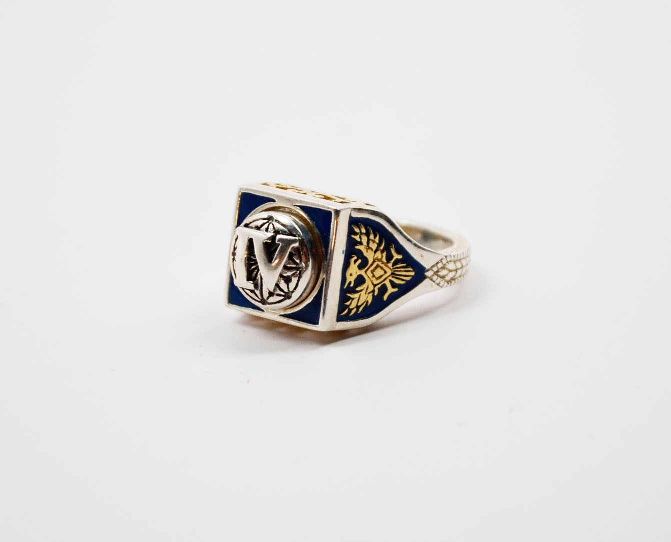Legacy Member Level Ring Blue/Silver