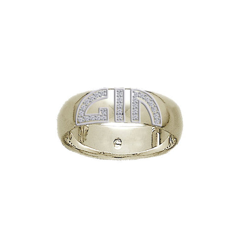 GIN 14K Gold Plated Elegant Ring