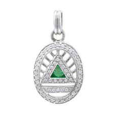GIN Silver System Pendant (Emerald Glass)