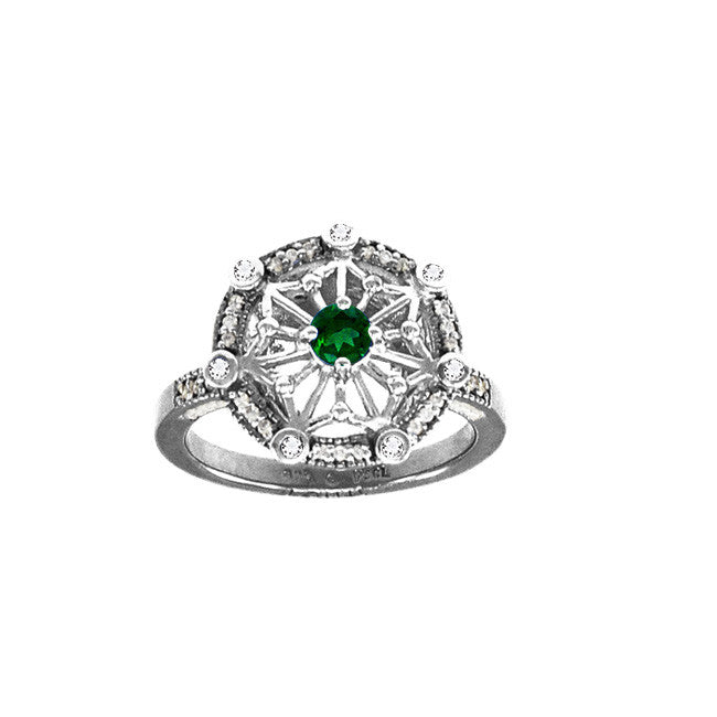 GIN Silver Tetra Ring (Emerald Glass)