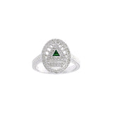 GIN Silver System Ring (Emerald Glass)