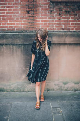 The black grid dress by Piper & Scoot