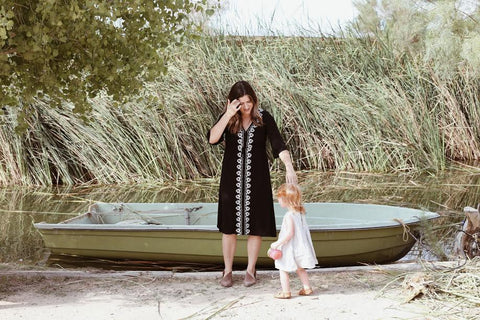 The black Cocinera Dress by Piper & Scoot