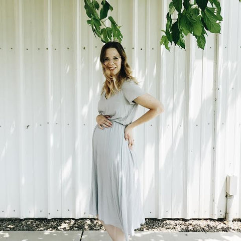 The maternity friendly Derby Dress by Piper & Scoot