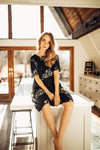 Piper & Scoot: The Swenson Floral Dress, lifestyle shoot; front view