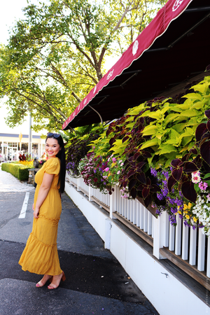 Piper & Scoot: The Pilon Lace Tiered Maxi Dress in Mustard