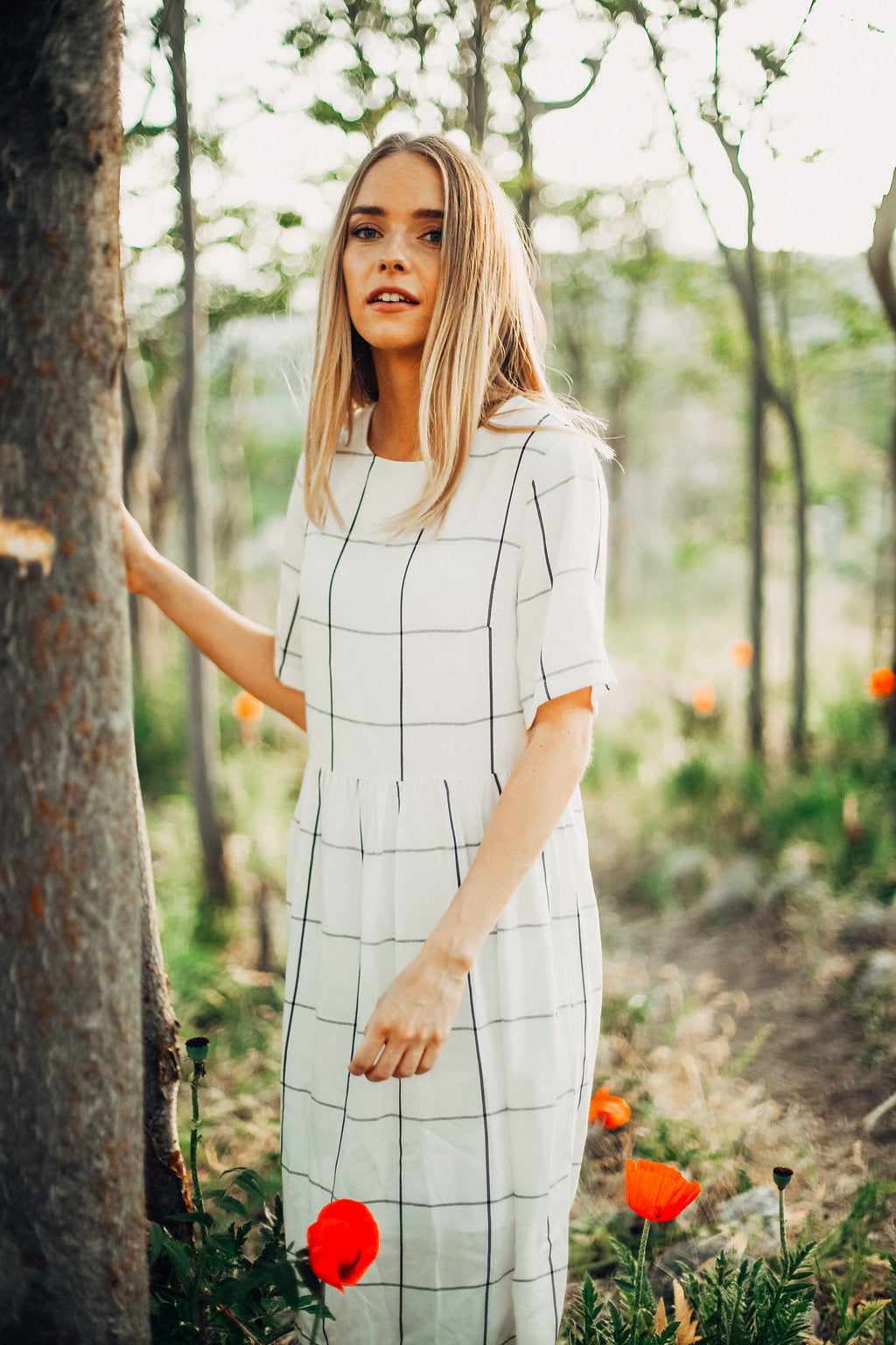 Piper & Scoot: The Grid Dress in White