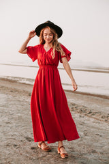 The Timberlake Maxi Dress in Ruby