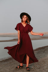 The Timberlake Maxi Dress in Mulberry